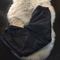 REI Elements Women's 12 Windbreaker Style Pants Black Side Zips Hiking Nice!
