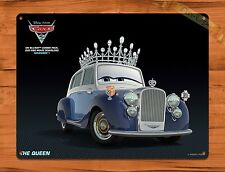 "Disney Tin Sign ""Cars 2 The Queen"" Art Painting Movie Ride Poster"