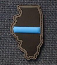 Violent Little Machine Illinois Thin Blue Line Tactical  PVC Morale Patch