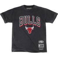 Chicago Bulls Mitchell & Ness NBA Keyline Vintage T-Shirt - Faded Black