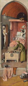 Hieronymus Bosch Death and the Miser Poster Reproduction Giclee Canvas Print