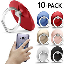 10-Pack Universal Rotating Finger Ring Stand Holder For Cell Phone iPhone Galaxy