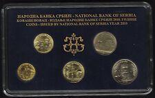 Serbia Official Central Bank Mint Set 2010. 5 Coins, 1, 2, 5, 10, 20 Dinara