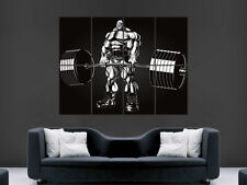 BODYBUILDING POSTER GYM COMIC STYLE ABSTRACT ART WEIGHTS WALL LARGE IMAGE