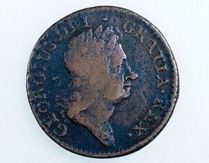 1723 Farth Hibernia DEI.GRATIA United States Colonial Coin Early Copper 1/2 Cent