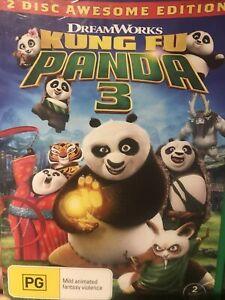 KUNG FU PANDA 3 DVD Region 4 Movie VGC Free Post From NSW