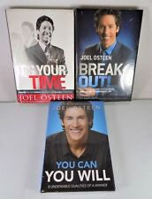 NEW!~JOEL OSTEEN~YOU CAN YOU WILL~IT'S YOUR TIME~BREAK OUT~3 HARDCOVER BOOK LOT