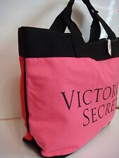VICTORIA SECRET PINK WEEKEND GETAWAY GYM BAG TOTE OVERSIZED RED PINK BLACK