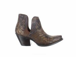 Ariat Womens Dixon Brushed Silver Booties Size 7 (1638727)