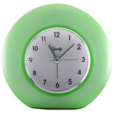 25300 Equity by La Crosse Battery Powered Frosted Analog Alarm Clock - Green