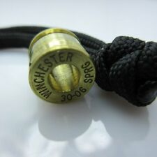 30-06 Cal. Brass Bullet Casing Paracord/Leather Lanyard Bead by Bullet KeyRing