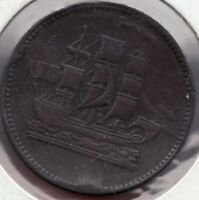c.1857 Prince Edward Island - Ships Colonies & Commerce Token - Superfleas -
