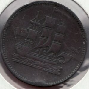 c.1857 Prince Edward Island - Ships Colonies & Commerce Token - Superfleas -