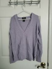 Eddie Bauer Womens Petite Medium Hooded Cable Knit Sweater