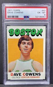 1971 Topps DAVE COWENS #47 Basketball Card Graded PSA 6 EX-MT Boston Celtics HOF