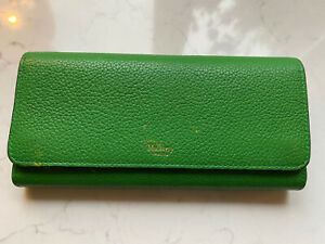 Mulberry Continental Purse Green Leather