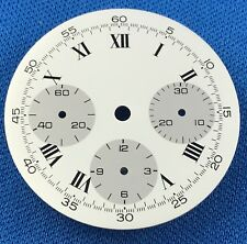 Unbranded chronograph Watch Dial Part -Latin Numbers- 30.5mm -Swiss Made- #916
