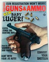 Vintage GUNS & AMMO Magazine August 1968 Baby Luger