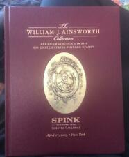 Ainsworth Collection of Abraham Lincoln Stamps - Spink sale 2009 - hardcover