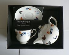 Chicken hen 2 cup teapot,cup and saucer gift boxed. Teapot china cup & saucer