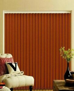"Vertical Blind Replacement Slats  89mm (3.5"") in Burnt Orange just 99p each"