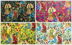 50 Yard Lot Cotton 5 Yard Fabric Frida Kahlo Fabric Garden Mexico Queen Print
