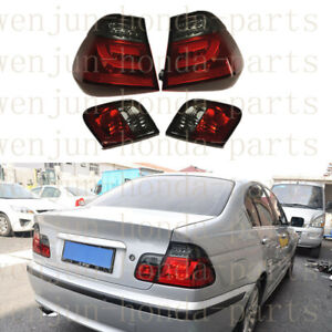 1 Pair Tail Brake Lights Assy LED Red Refit For BMW 3-Series Sedan E46 1999-05
