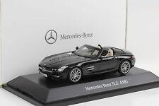 2012 Mercedes-Benz SLS AMG Roadster Obsidianschwarz metallic 1:43 Schuco Dealer
