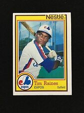"TIM RAINES ODD BALL ""NESTLE"" 1984 MONTREAL EXPOS VINTAGE BASEBALL CARD"