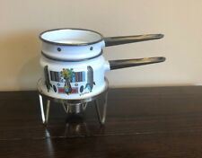 Georges Briard Mcm Enamel Double Boiler With Warmer stand