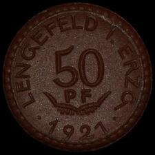 NOTGELD: 50 Pfennig 1921. Porzellan. WITTIG & SCHWABE - LENGEFELD / SACHSEN.
