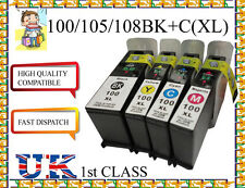 4 INKS FOR LEXMARK 100 XL S815 S305 S602 S605 S402 S405 S505 NON ORIGINAL