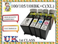 4 INCHIOSTRO PER LEXMARK 100 XL s815 s305 s602 s605 s402 s405 s505 NON ORIGINALE