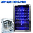 35 Bottles Wine Cooler Compressor Fridge Chiller Cellar w/Metal Shelf Glass Door photo