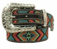 Nocona Girl's Colorful Design Stitched Western Belt N4436801