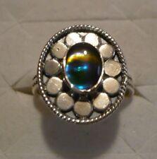 Ammolite Ring (southwest design) Sz. 7  1 gem 1.12tcw MSRP$507