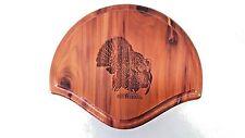 Solid Cedar Turkey Fan/Beard Mounting Kit 01 with Laser Turkey