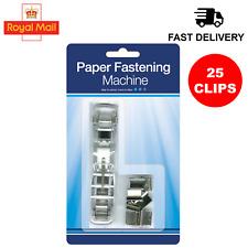 Reusable Paper Binder Fastener Clips Binding Book Secure Document Holder File