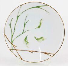 "Medard De Noblat Limoges ""Jardin de Flore"" Orchid Gilded 6.25"" Bread Plate M643"