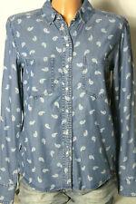 HILFIGER DENIM Jeanshemd Gr. XS/38 blau Damen Jeans Hemd/Bluse