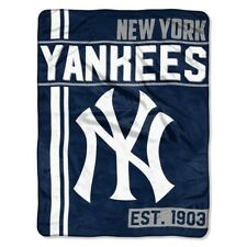 New York Yankees MLB Baseball Team 46x60 Micro Raschel Fabric Throw D325.02