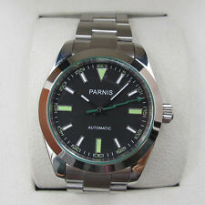 Parnis 40mm Sapphire Crystal Green Marks Automatic Movement Watch Stainless Case