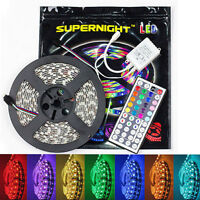 SUPERNIGHT® 5M 5050 SMD RGB 300 LED Flexible Strip Waterproof + 44 Key IR Remote