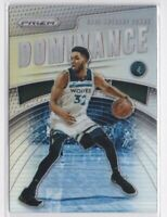Karl Anthony Towns- Wolves DOMINANCE SILVER PRIZM 🔥💎 2019-20 Panini Prizm MINT