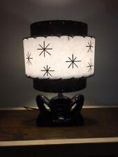 Mid Century Vintage Style 3 Tier Fiberglass Lamp Shade Retro Clip Top Bulb Clip