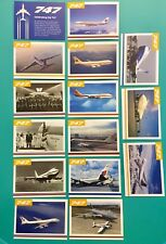 15 UNITED AIRLINES 747 FAREWELL COLLECTORS CARDS