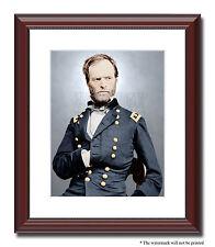 Gen Sherman Atlanta Savannah 11x14 Framed Photo Print Color Civil War -07136