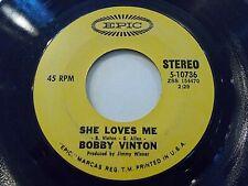 Bobby Vinton She Loves Me / And I Love You So 45 Epic Vinyl Record