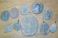 Mexican Colonial Silver Sacrum Art Medal Lot Baroque Period