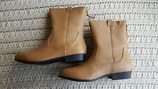 Marla Womens Bootie Boots Leather Back Zippered Mid Calf Comfortview Low Heel